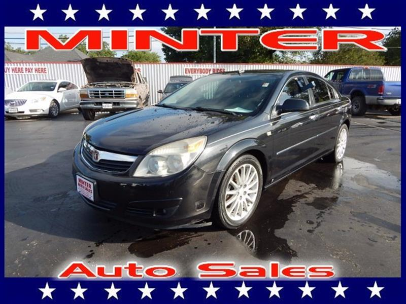 2008 SATURN AURA XR 4DR SEDAN black air conditioning single-zone automatic climate controlconso