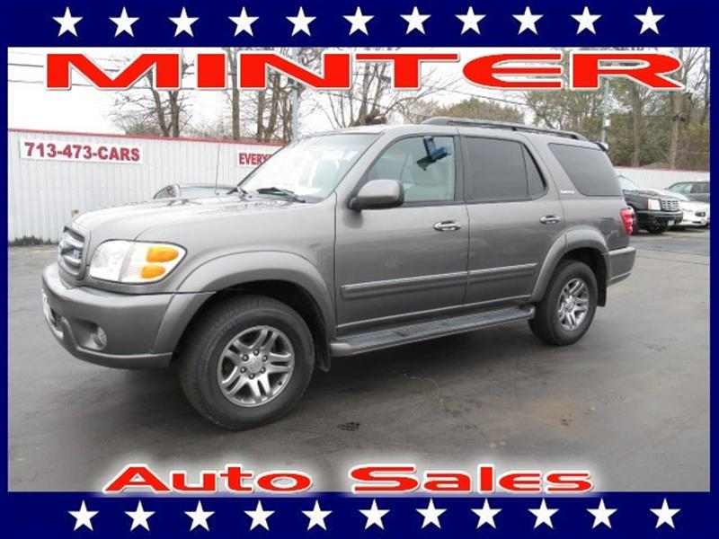 2004 TOYOTA SEQUOIA LIMITED 4WD 4DR SUV phantom gray pearl 3rd row seat5050 split-fold reclinin