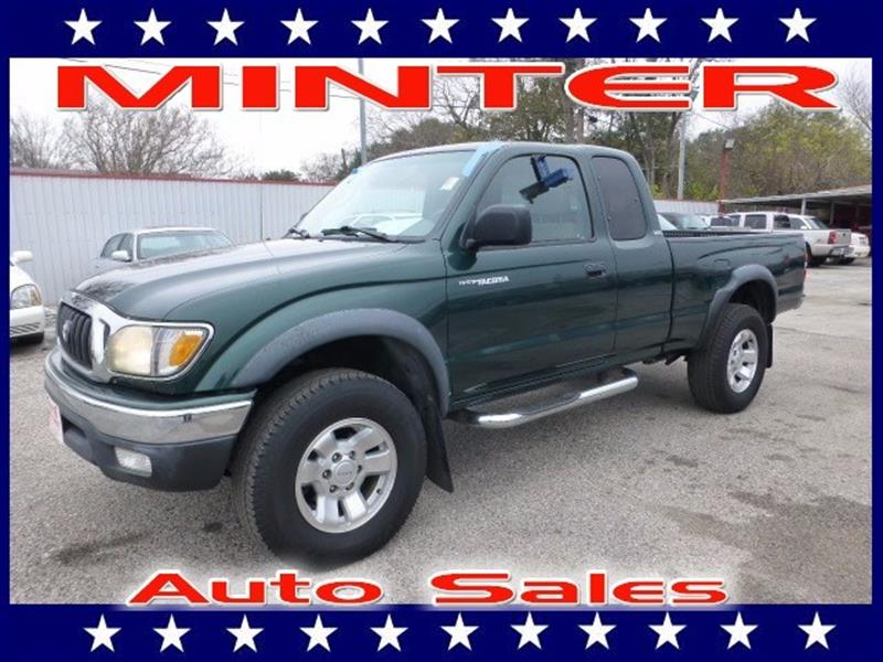 2002 TOYOTA TACOMA PRERUNNER V6 2DR XTRACAB 2WD SB imperial jade mica air conditioningdual aux p