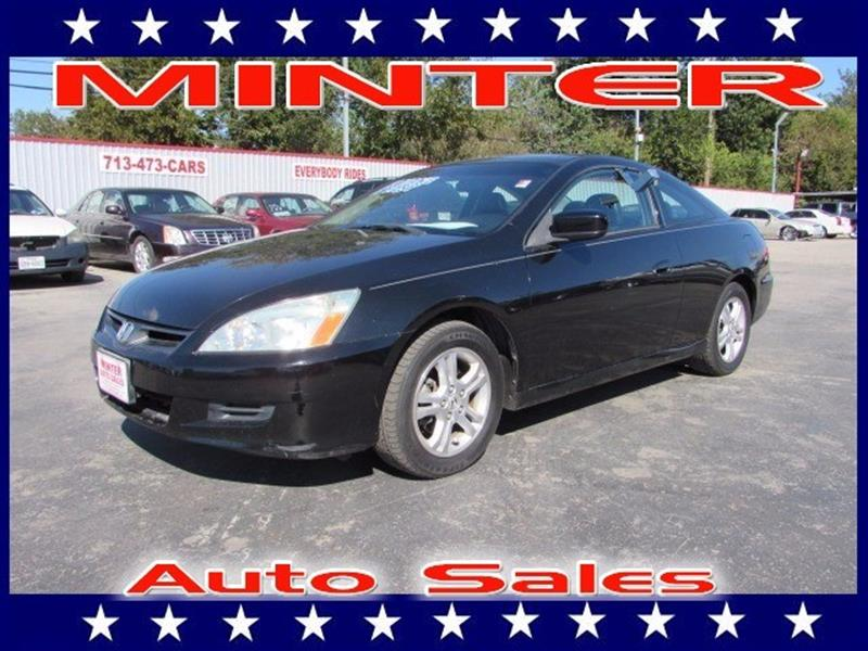 2007 HONDA ACCORD EX-L 2DR COUPE 24I4 5A nighthawk black pearl 6 frontrear beverage holders