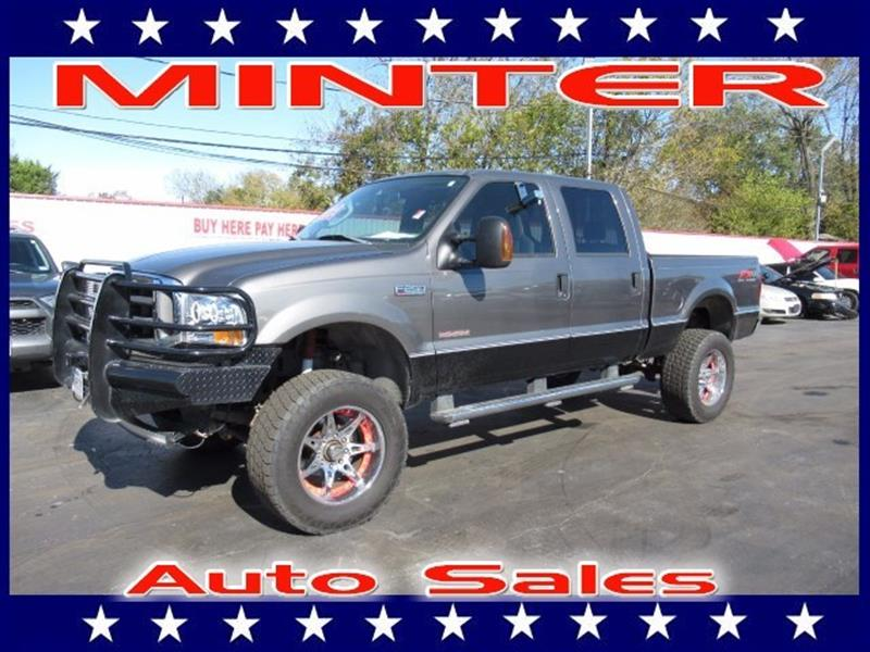 2004 FORD F-250 SUPER DUTY 4WD CREW CAB 6-34 FT BOX LARIAT dark shadow grey metallic 4 air reg