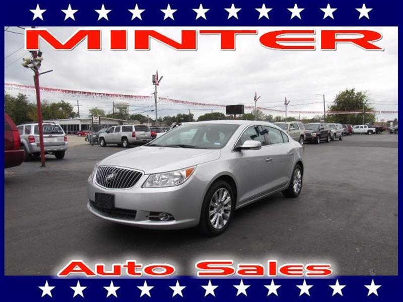 2013 BUICK LACROSSE LEATHER 4DR SEDAN champagne silver metallic air conditioning dual-zone automa