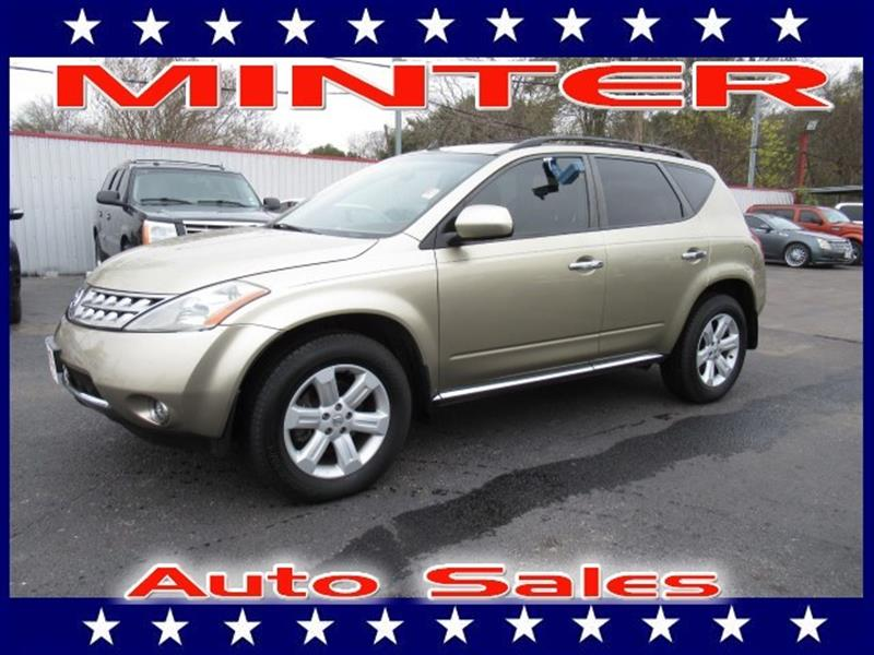 2006 NISSAN MURANO SL V6 AWD chardonnay pearl metallic 3 12-volt pwr outlets10-way pwr driver