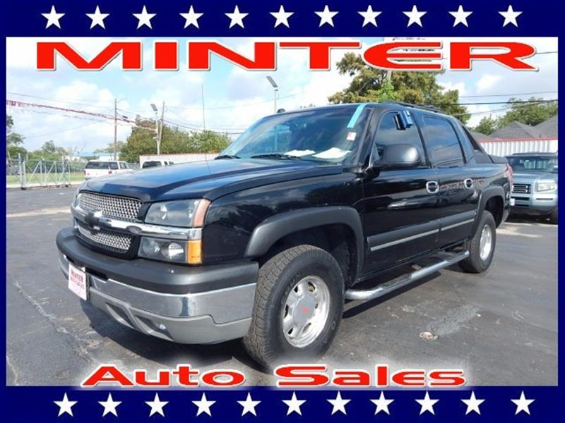 2004 CHEVROLET AVALANCHE 1500 4DR CREW CAB SB RWD black air conditioning dual-zone manual indi