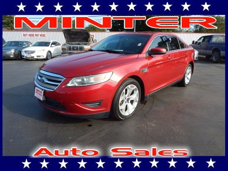 2012 FORD TAURUS SEL 4DR SEDAN red candy metallic tinted 3 auxiliary pwr points6040 split fol