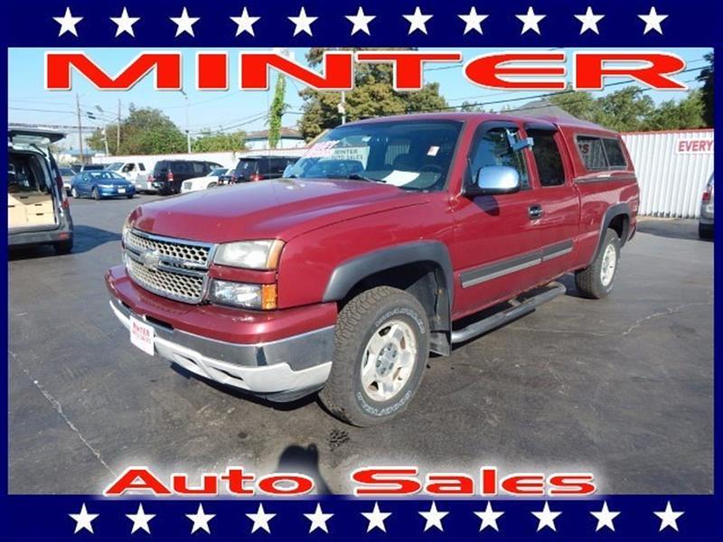 2006 CHEVROLET SILVERADO 1500 4WD EXTENDED CAB STANDARD BOX LS sport red metallic air conditionin