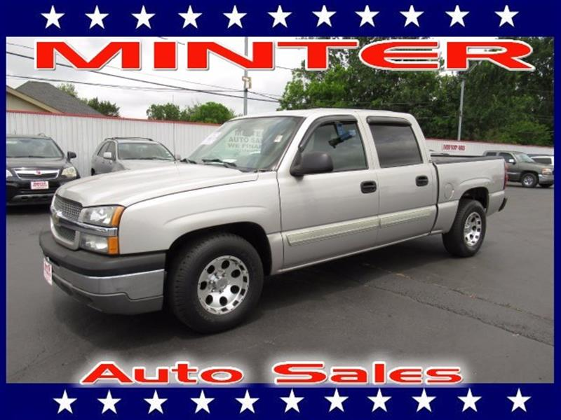 2004 CHEVROLET SILVERADO 1500 2WD CREW CAB SHORT BOX LS silver birch metallic 6 passenger seating