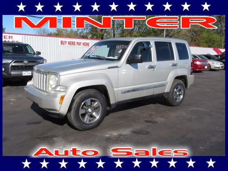 2008 JEEP LIBERTY SPORT 4X2 4DR SUV silver 6 speakers12-volt auxiliary pwr outlet5 passenger