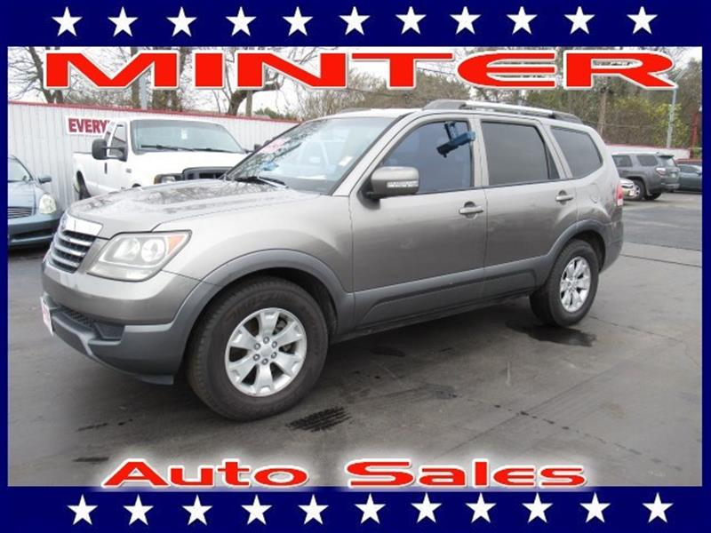 2009 KIA BORREGO 2WD V6 LX gray 3 pwr outlets -inc front center console cargo2nd row 6040