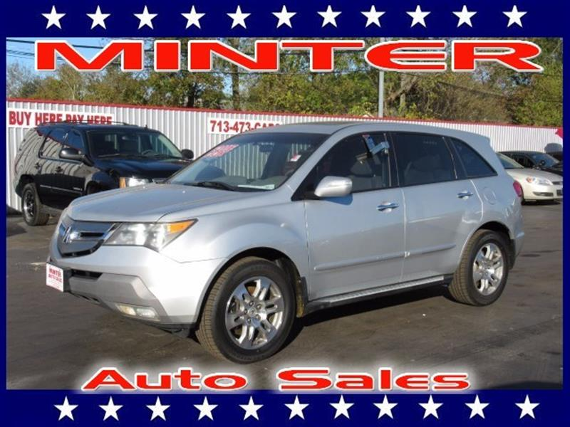 2007 ACURA MDX SH AWD WTECH WRES 4DR SUV WTE billet silver metallic 10 cup holders2 12 vo