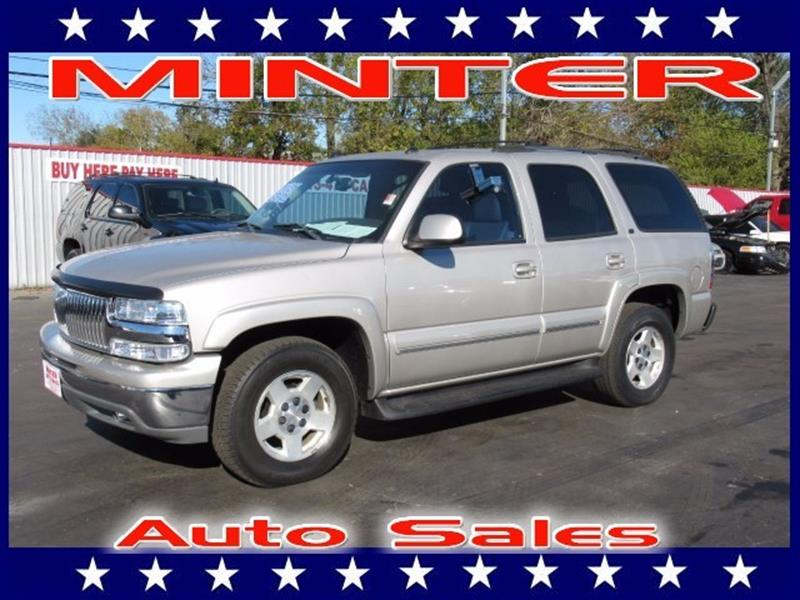 2004 CHEVROLET TAHOE 1500 LT silver birch metallic 3rd row seat7 passenger seatingair condition
