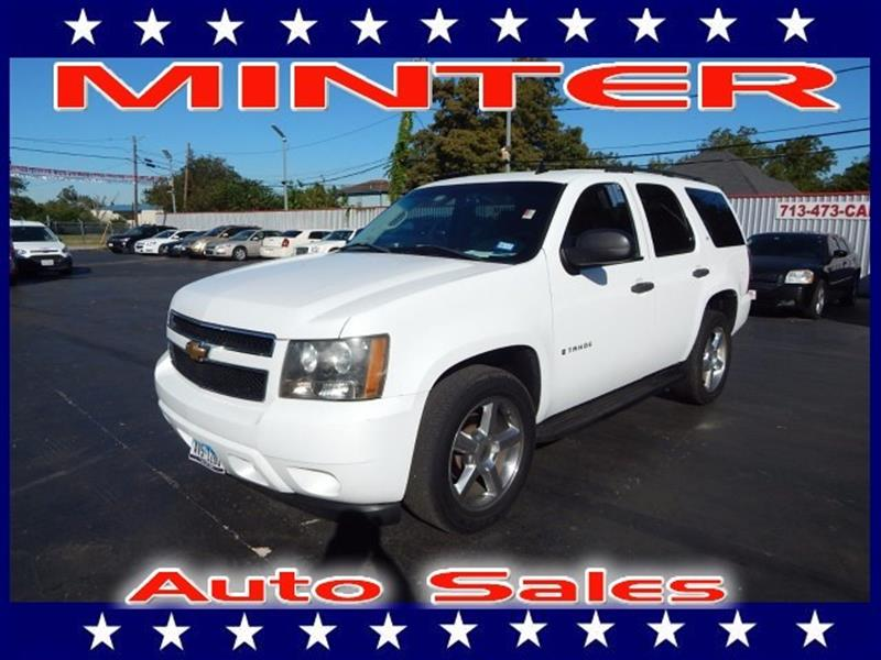 2007 CHEVROLET TAHOE 2WD 1500 LS summit white air conditioning dual-zone manual climate control