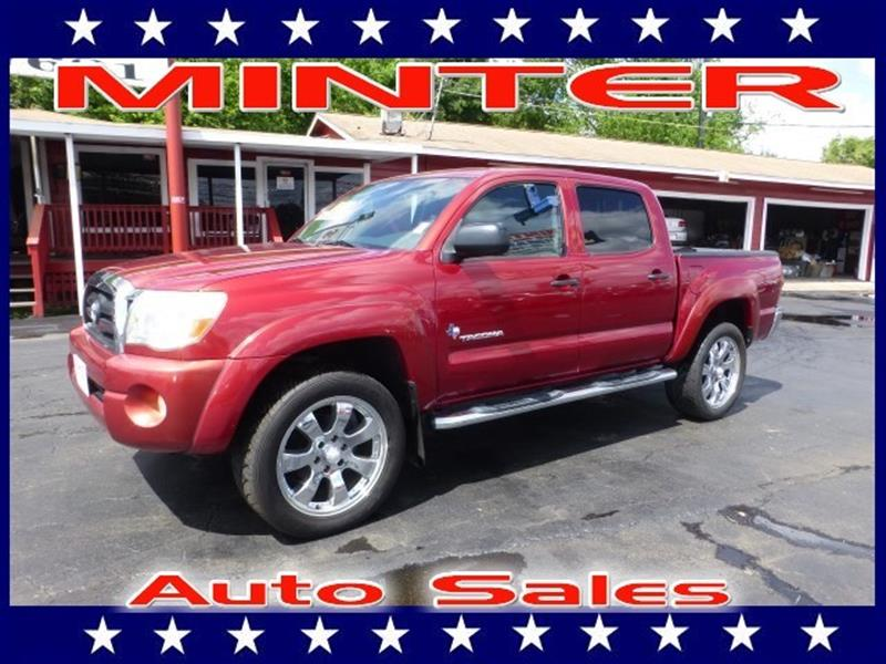 2005 TOYOTA TACOMA PRERUNNER V6 4DR DOUBLE CAB RWD impulse red pearl 2 front2 rear cup holde
