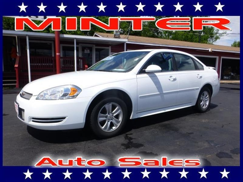 2013 CHEVROLET IMPALA LS FLEET 4DR SEDAN white 5 passenger seatingamfm stereoauxiliary audio i