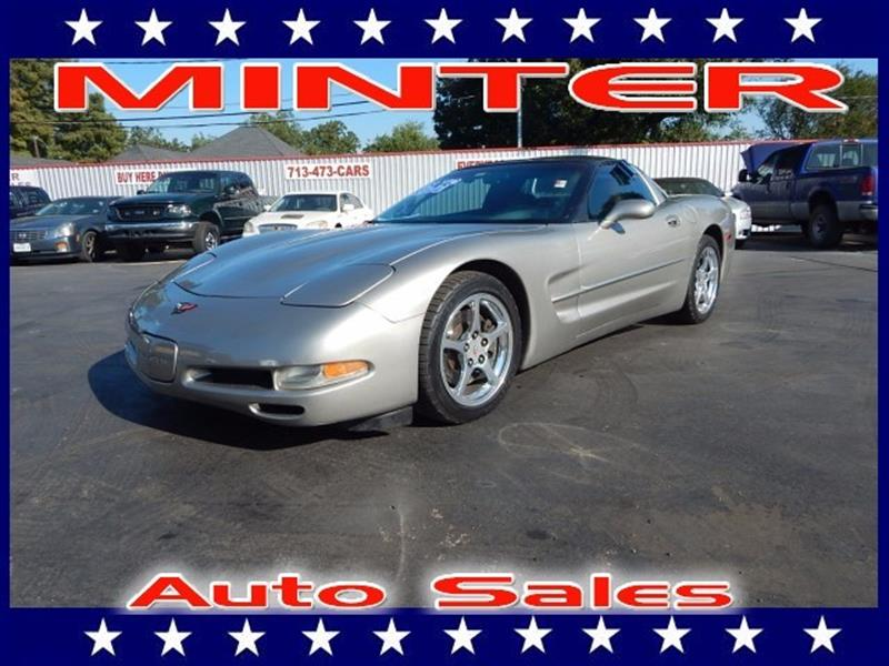 2002 CHEVROLET CORVETTE BASE 2DR COUPE quicksilver metallic 6-way pwr driver seatair conditionin