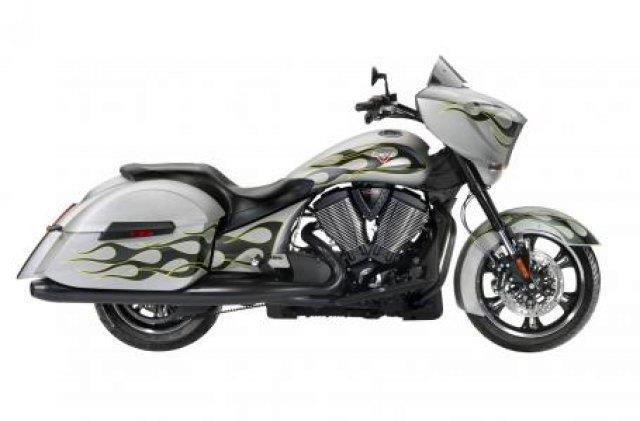 2014 Victory Cross Country Suede Silver With Flames