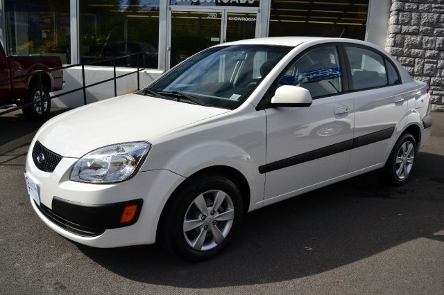 2009 KIA RIO LX white 2009 kia rio lx sedan air conditioning sirius satellite radio amfmcd