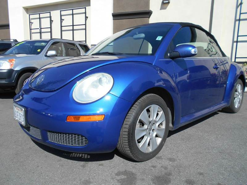 2003 VOLKSWAGEN NEW BEETLE GLS 2DR CONVERTIBLE blue abs - 4-wheel anti-theft system - alarm cas