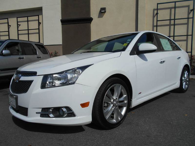 2012 CHEVROLET CRUZE LTZ 4DR SEDAN W1LZ white 2-stage unlocking doors abs - 4-wheel air filtra