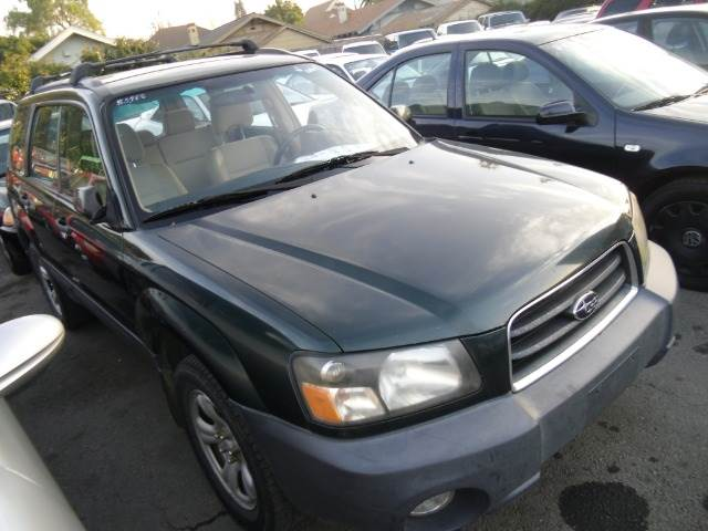 2003 SUBARU FORESTER 25 X green 4wdawdabs brakesair conditioningamfm radioanti-brake syste