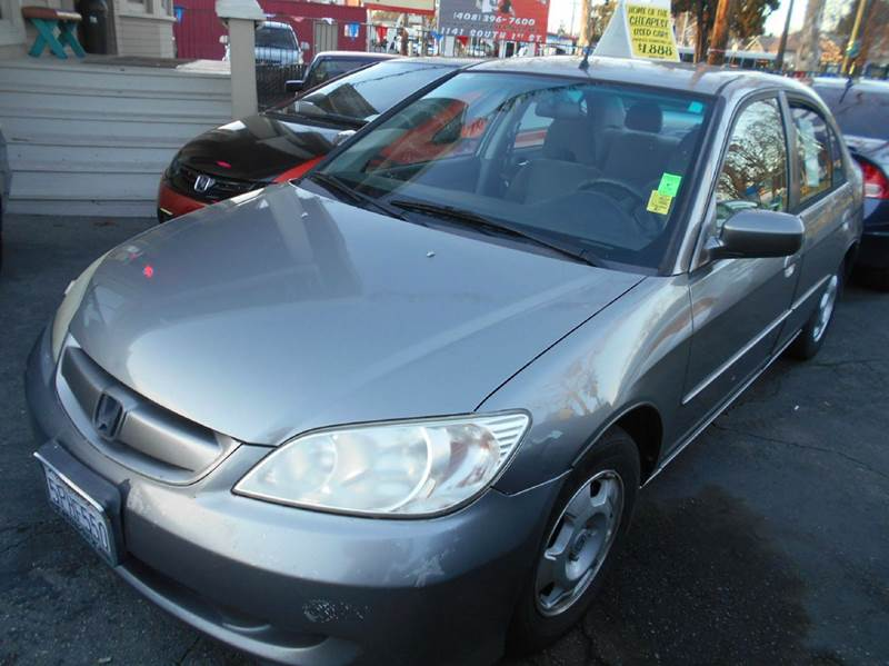 2005 HONDA CIVIC HYBRID 4DR SEDAN gray abs - 4-wheel air filtration airbag deactivation - occup