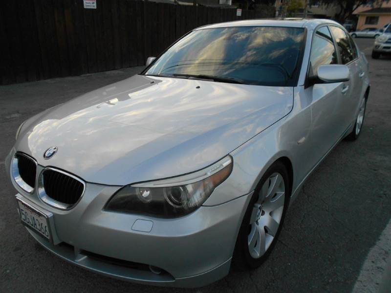 2004 BMW 5 SERIES 530I 4DR SEDAN silver abs - 4-wheel anti-theft system - alarm center console