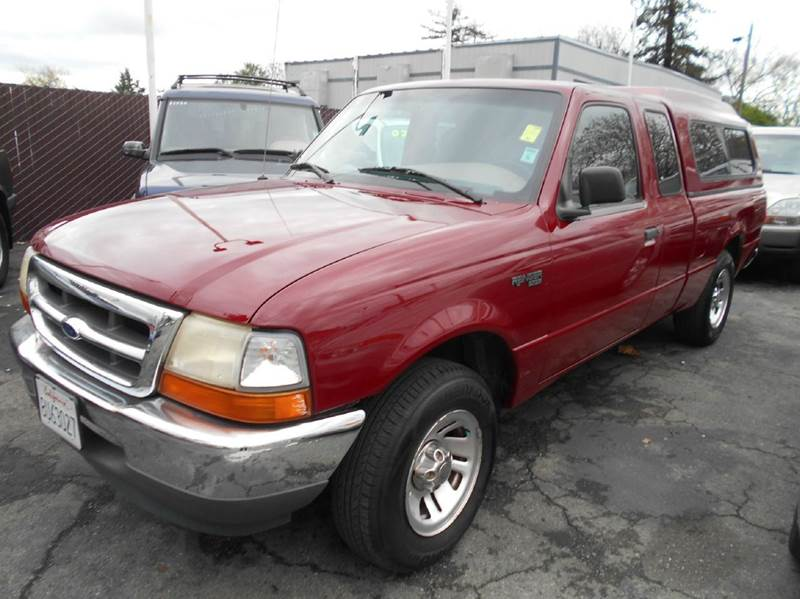 1999 FORD RANGER XLT 2DR EXTENDED CAB SB red abs - rear cassette exterior entry lights front a