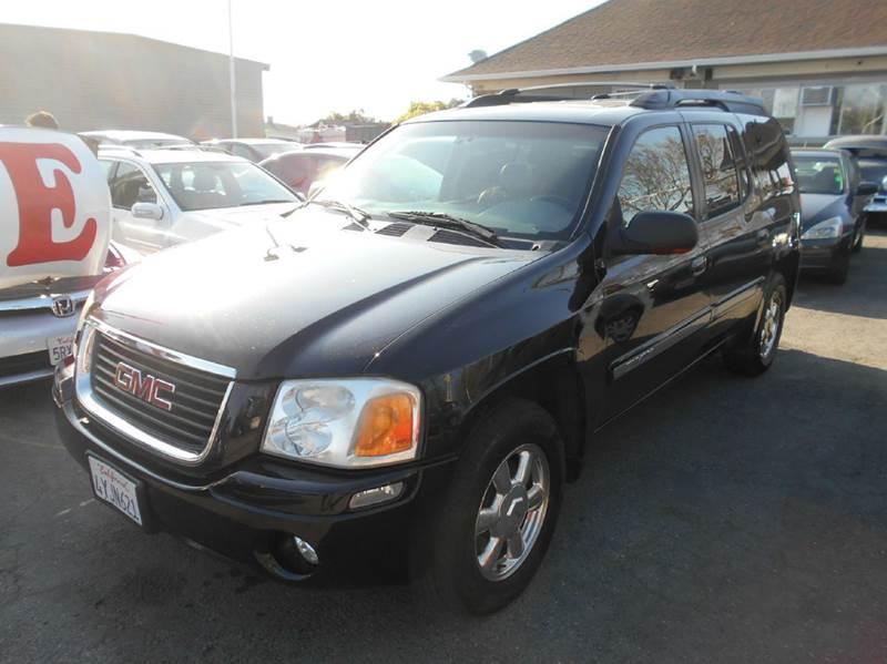 2002 GMC ENVOY XL SLT 2WD 4DR SUV black 17 inch wheels abs - 4-wheel anti-theft system - alarm