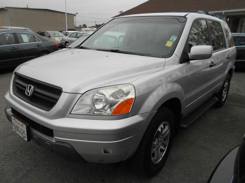 2005 HONDA PILOT EX-L 4DR 4WD SUV WLEATHER silver 4wd type - on demand abs - 4-wheel anti-thef
