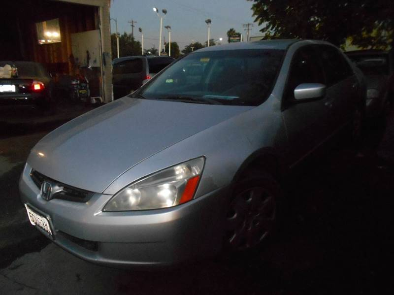 2003 HONDA ACCORD LX V-6 4DR SEDAN silver abs - 4-wheel anti-theft system - alarm cd changer c