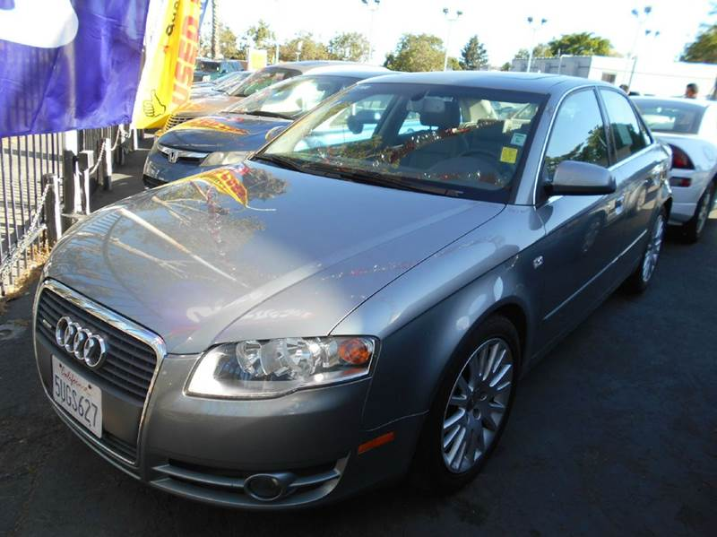 2006 AUDI A4 20T QUATTRO AWD 4DR SEDAN 2L I silver abs - 4-wheel active head restraints - dual