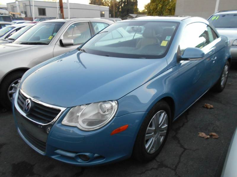 2007 VOLKSWAGEN EOS 20T 2DR CONVERTIBLE 2L I4 6A blue 2-stage unlocking - remote abs - 4-whee