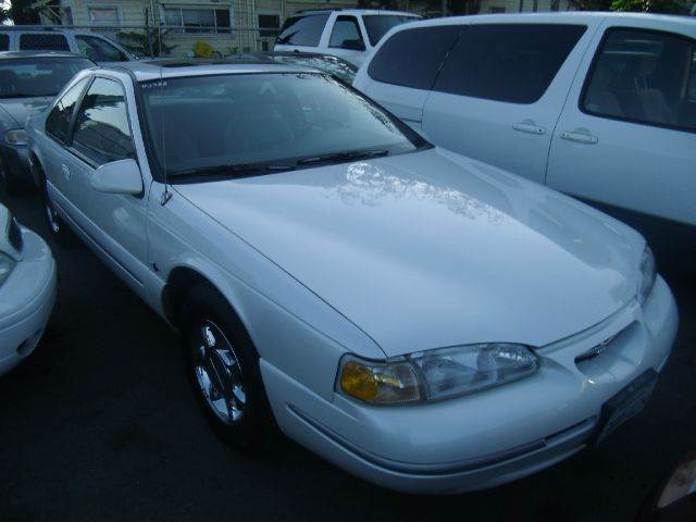1997 FORD THUNDERBIRD LX 2DR COUPE white cassette center console cruise control exterior mirror