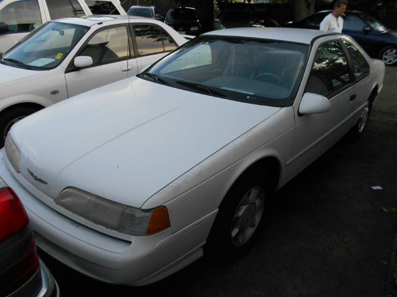 1993 FORD THUNDERBIRD LX 2DR COUPE white cassette center console cruise control exterior entry