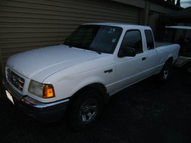 2001 FORD RANGER XLT 2DR SUPERCAB 2WD STYLESIDE S white abs - 4-wheel anti-theft system - alarm