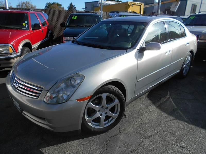 2004 INFINITI G35 BASE RWD 4DR SEDAN WLEATHER silver abs - 4-wheel anti-theft system - alarm c