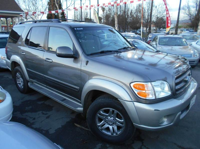2003 TOYOTA SEQUOIA SR5 4WD 4DR SUV gray abs - 4-wheel antenna type - power anti-theft system -