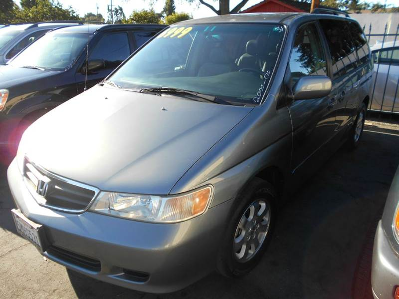 2002 HONDA ODYSSEY EX-L WDVD 4DR MINI VAN WLEATHE gray abs - 4-wheel anti-theft system - alarm