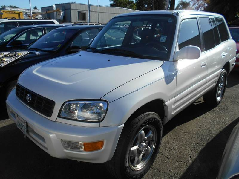 1999 TOYOTA RAV4 BASE 4DR SUV white front airbags - dual front seat type - bucket front wipers