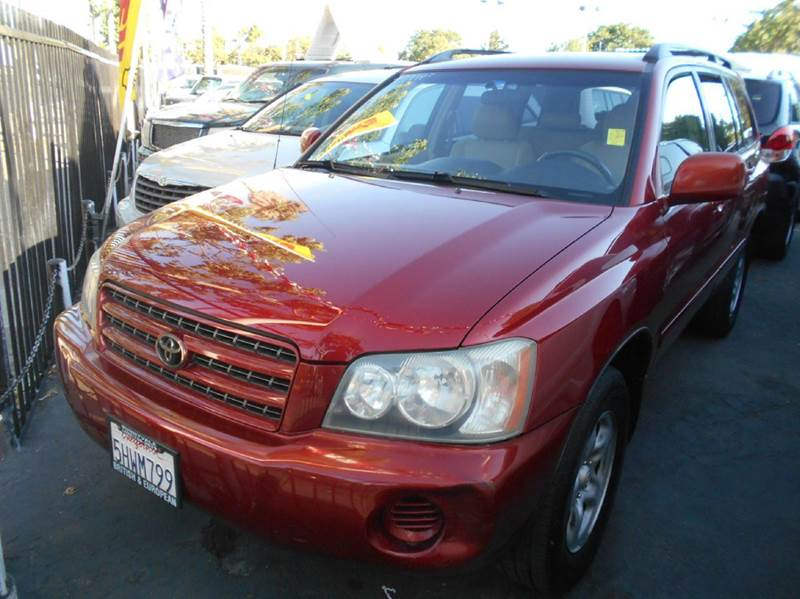 2002 TOYOTA HIGHLANDER BASE 2WD 4DR SUV red abs - 4-wheel cassette center console clock cruis