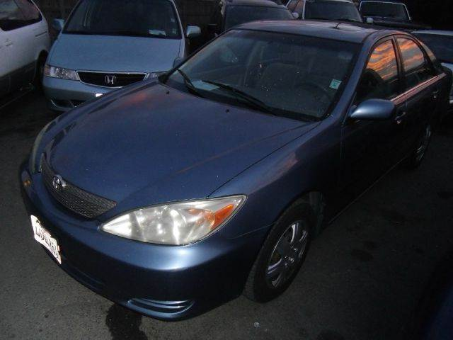 2002 TOYOTA CAMRY LE blue air conditioningamfm radioanti-brake system non-abs  4-wheel absa