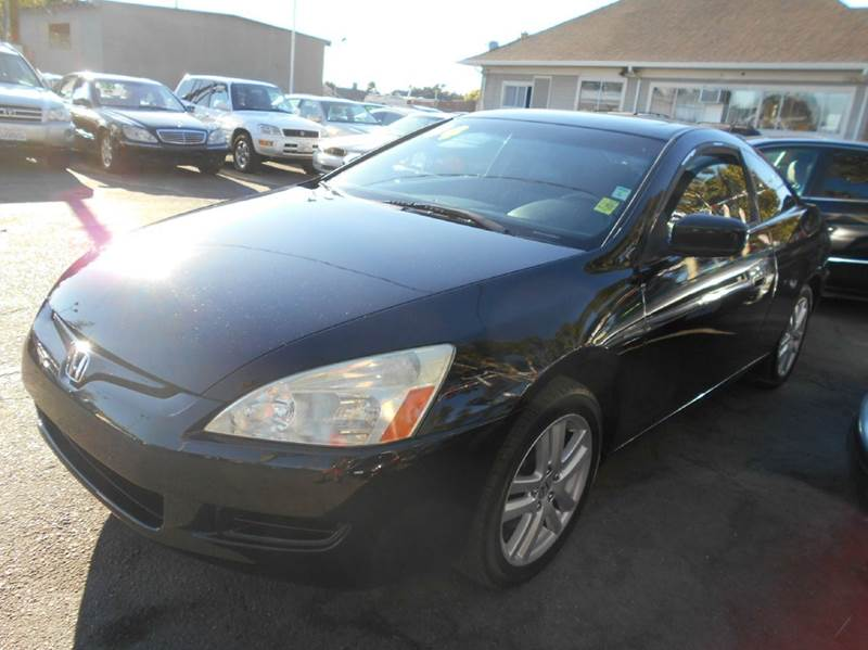 2004 HONDA ACCORD EX V-6 WNAVI 2DR COUPE WNAVI black abs - 4-wheel anti-theft system - alarm