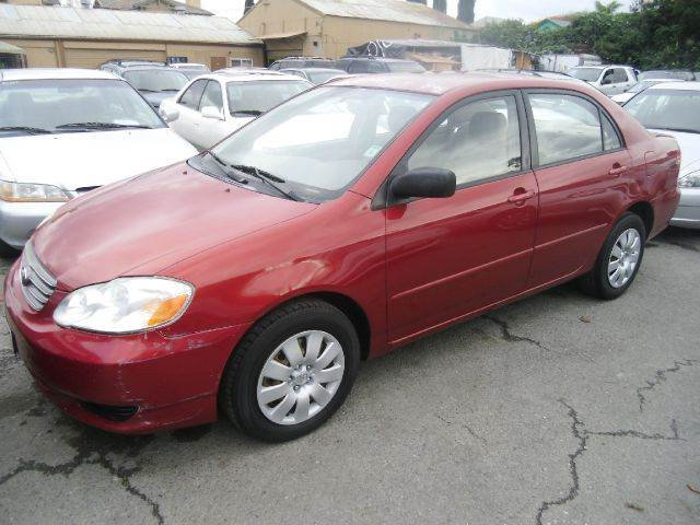 2004 TOYOTA COROLLA LE 4DR SEDAN red center console clock daytime running lights exterior entr