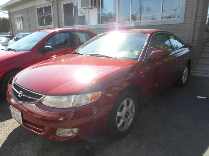 1999 TOYOTA CAMRY SOLARA SLE V6 2DR COUPE red abs - 4-wheel anti-theft system - alarm cassette