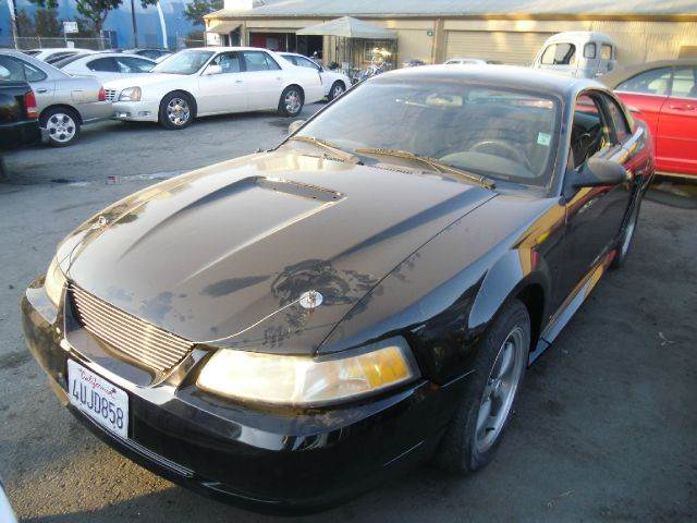 2001 FORD MUSTANG 2DR COUPE black alloy wheels anti-theft system - alarm cassette center conso
