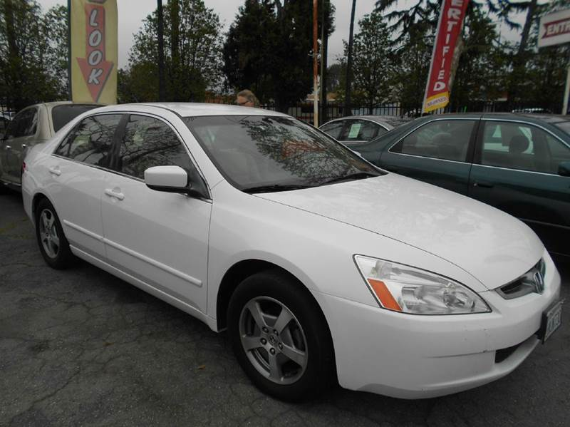 2005 HONDA ACCORD HYBRID 4DR SEDAN white abs - 4-wheel anti-theft system - alarm cd changer ce