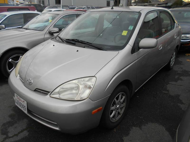 2002 TOYOTA PRIUS BASE 4DR SEDAN silver abs - 4-wheel anti-theft system - alarm cassette cente