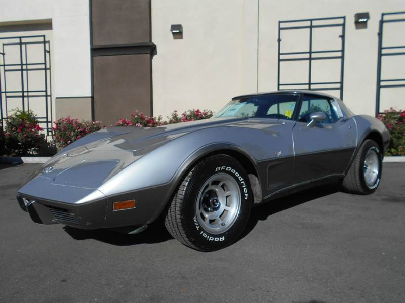 1978 CHEVROLET CORVETTE 25TH ANNIVERSARY silver 95693 miles VIN 1Z87L8S40980