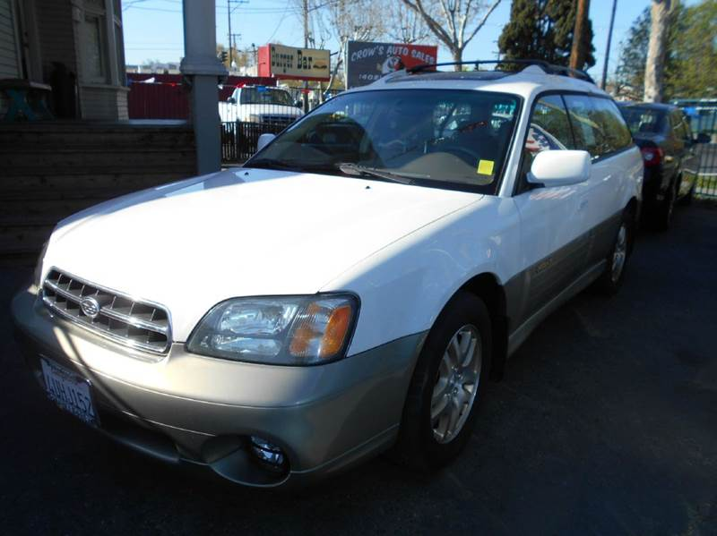 2001 SUBARU OUTBACK LIMITED AWD 4DR WAGON white abs - 4-wheel cassette clock cruise control d