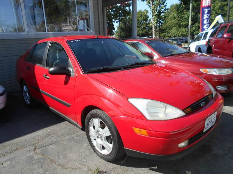 2001 FORD FOCUS SE 4DR SEDAN red anti-theft system - alarm center console clock front air cond